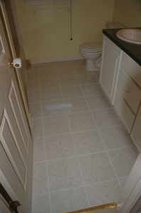 Installation of Tile Floor