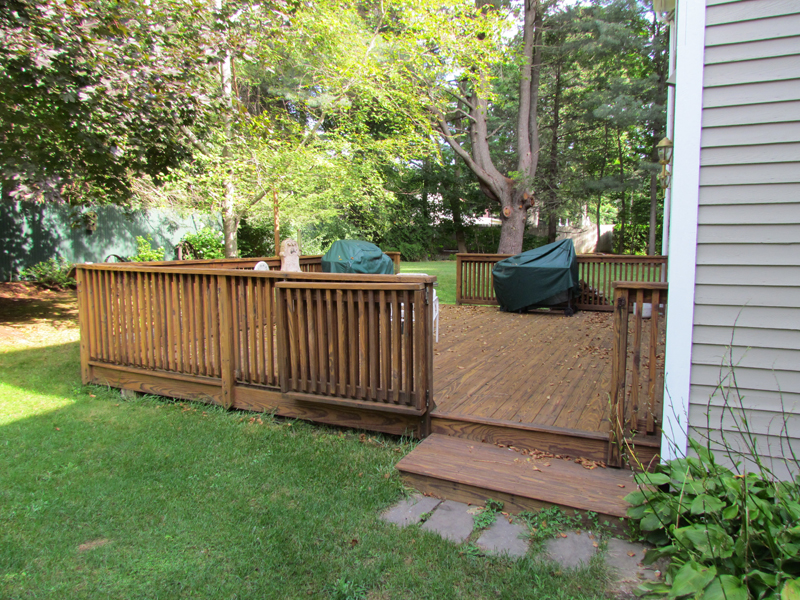 Deck Stain Project-Southbridge, MA