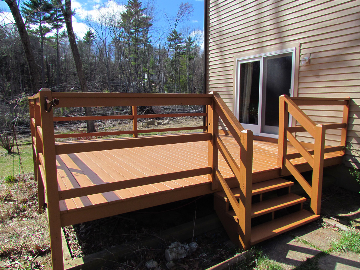 Repaired and painted deck in Sturbridge, MA